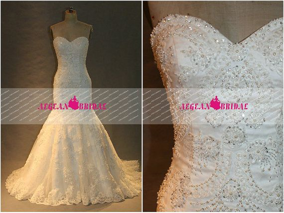 Hey, I found this really awesome Etsy listing at https://www.etsy.com/listing/197718095/rw179-lace-wedding-dress-with-beading
