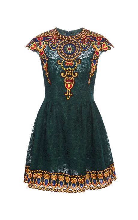 Embroidered Lace Dress by Valentino - Moda Operandi