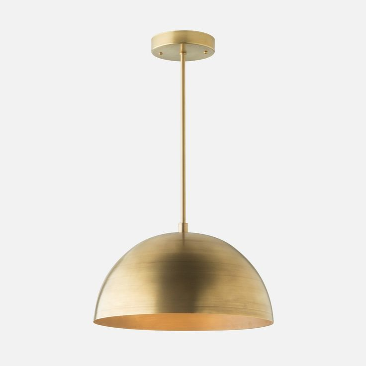 The Royce family draws its inspiration from a composite of beloved and influential design styles including the organic forms and evocative materials of the Scandinavian and Bauhaus movements.   Featuring a hand-applied wax finish, the stunning solid brass dome shade adds visual warmth and illumination. Fitted with a porcelain duplex socket ideal for use with globe-shaped bulbs, the Royce Rod is bound to become a focal point, whether suspended above a dining space, living room, foyer or…
