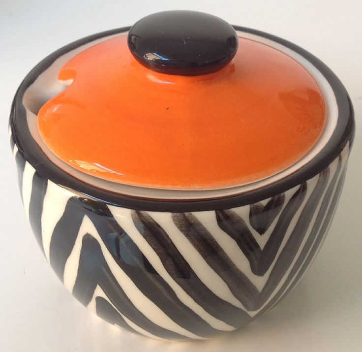the sugar pot with a touch of zebra!