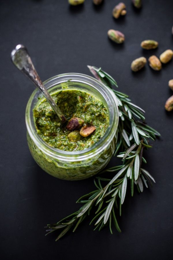 Pistachio Rosemary Pesto with Power Greens