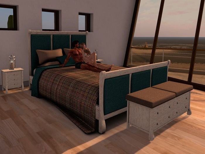 Island Retreat bedroom suite by PRIME  (Erotic MF couple edition)  Ruby edition Xpose bed with 902 animations  Coral edition Xpose couch with 514 animations  Misc, relax , cuddle and sex menus for lovers or friends  Basic couch with 3*14 sits and props  Bedside chest with 5 sitd and 4 romantic couple sets  Nightstands, lantern, table and chests  Custom mesh, Copy/Mod no transfer