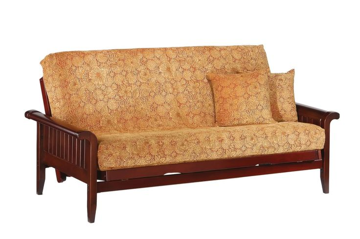 Venice Queen Futon Frame in rosewood finish