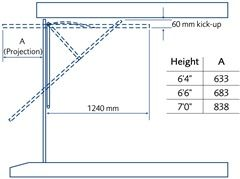 Click to view Up and over steel canopy gear garage door specification