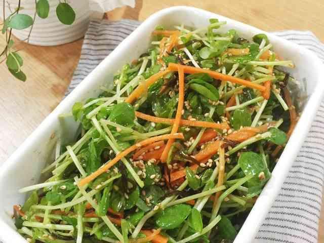 【作り置き】豆苗の塩昆布サラダの画像