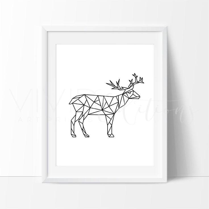 Geometric Purple Deer Wall Art Print Modern Poster Buck: 25+ Best Ideas About Geometric Deer On Pinterest