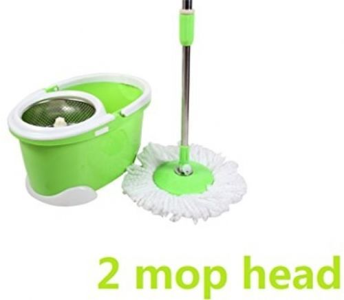 Spin Mop Bucket System Stainless Steel 360 Degree Spinning