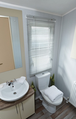 Family shower room. Central heating optional extra
