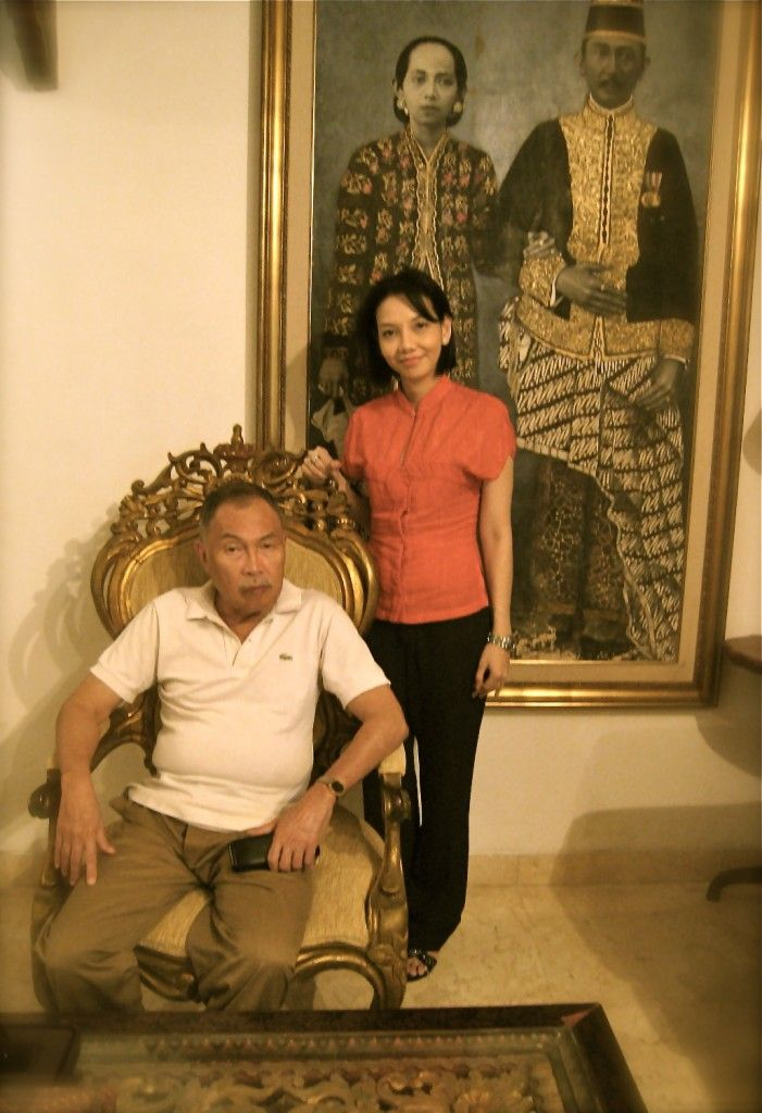 A tribute to Iwan Tirta, the Batik Maestro on the Batik Day 2012. The late Iwan Tirta and me at his home in 2007.