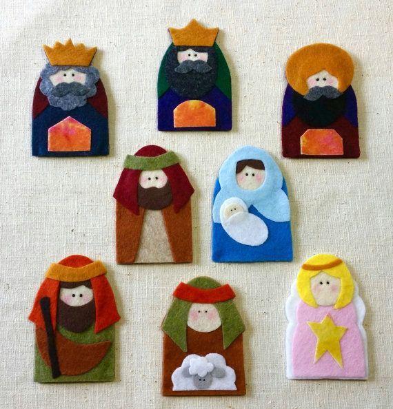 Títeres de dedo de Natividad no coser por Twipsie en Etsy