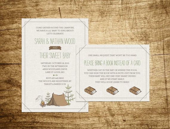 Printable Camp Baby Shower Invitation  Camp Etsy by WillowandSass