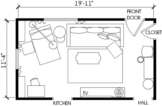Working With A Long Narrow Living Room