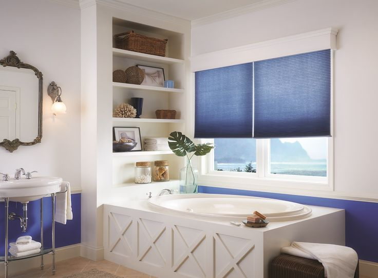 Love The Use Of The Honeycomb Blinds To Pull In The Blue
