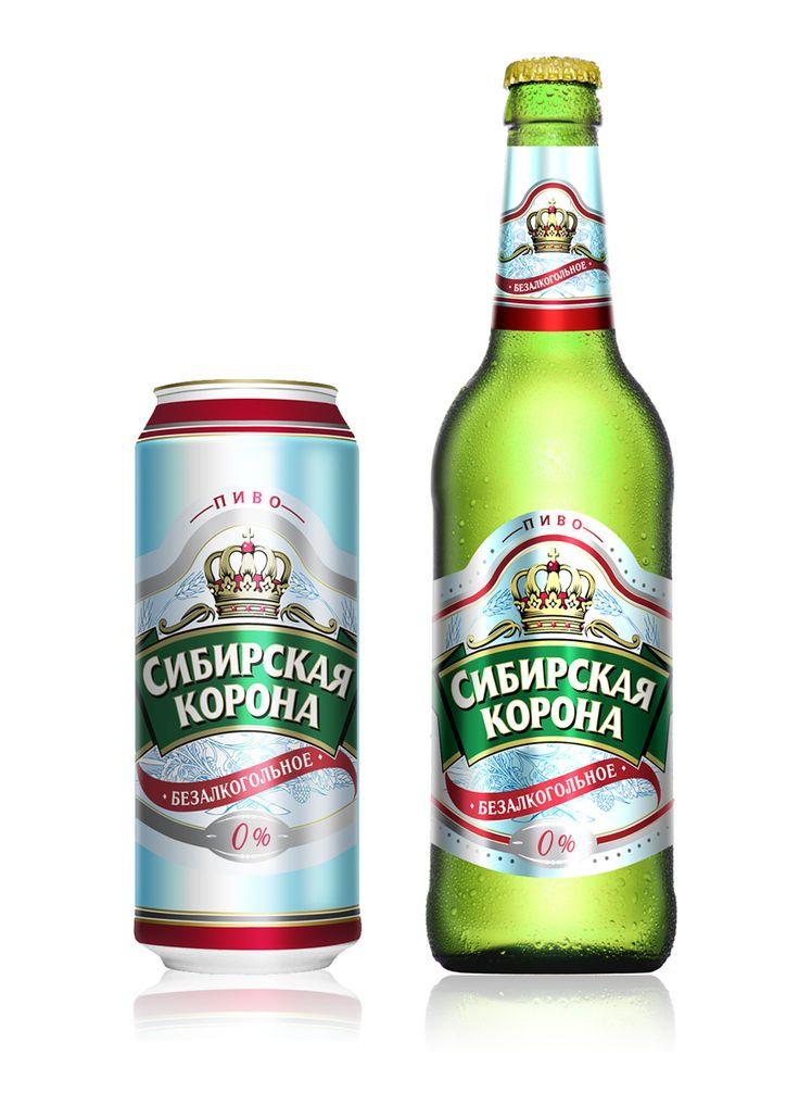 Сибирская Корона, пиво безалкогольное, Этикетка © JuliaMelikova