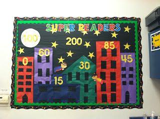 Super Hero Bulletin Board  http://www.notsowimpyteacher.com/2013/08/super-hero-classroom.html