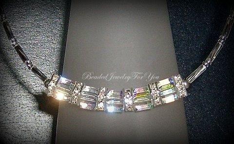Crystal Jewelry, Choker Necklace, Bridal Set, Necklaces for Women, White Necklace, Bridal Jewelry, Crystal Jewelry