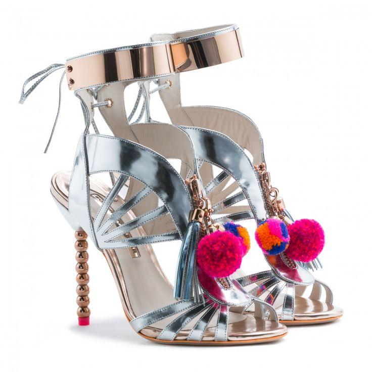 Mikishyda New Gladiator Sandals Women Pompom Tassel Ankle Strap Talon Femme  Luxury Pumps Shoe High Heel Crystal Sandal Women