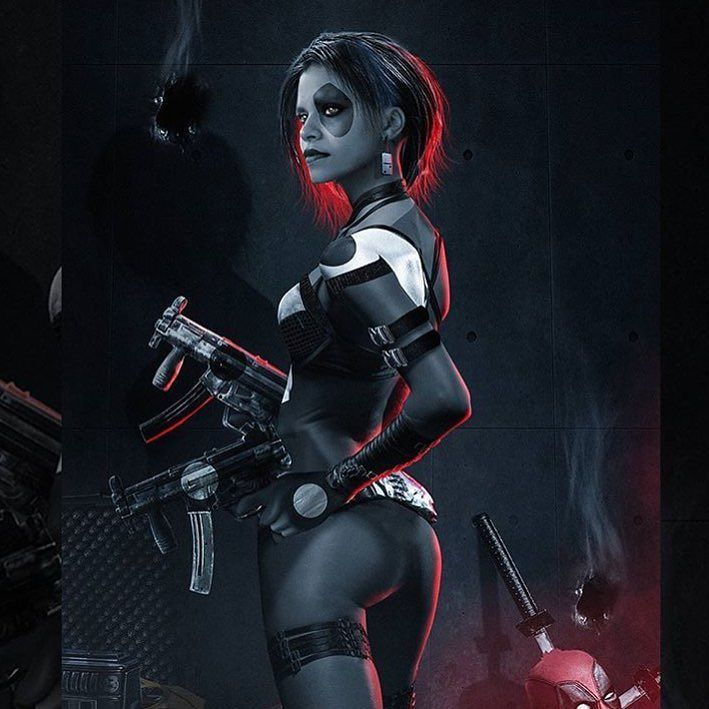 #ZazieBeetz as #Domino #art by @bosslogic  It was officially announced by #RyanReynolds himself who posted a picture on his Instagram of her name spelled out in dominos. #clever  @vancityreynolds @zaziebeetz #Deadpool #Deadpool2 #XForce