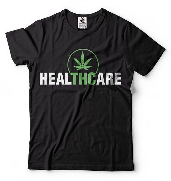 Cannabis T-Shirt Funny Marijuana Weed Legalize Pot Smoker THC Tee Shirt