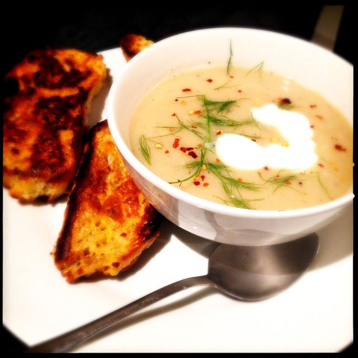 Sweet fennel soup with French toast croutons - Jamie Oliver