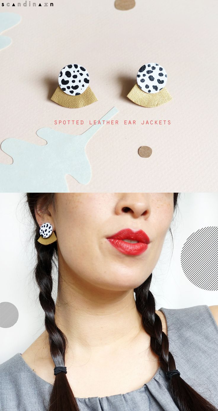 Catchpenny and Accesories - Catchpenny and Accesories - Skirted Orb Gold Spotted Leather Earjackets Recycled leather earrings Scandinazn - 7 Tips to combine catchpenny and accesories - 7 Tips to combine catchpenny and accesories