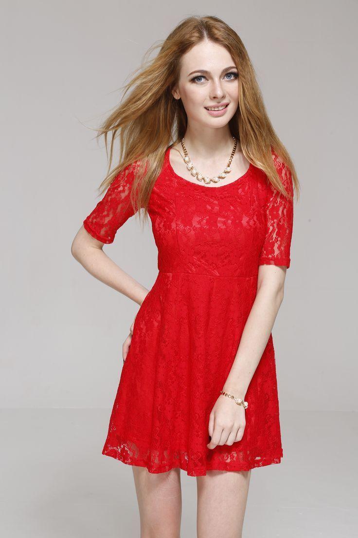 Red summer dress pinterest diaper