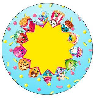 Shopkins: Wrappers y Toppers para Cupcakes para Imprimir Gratis.