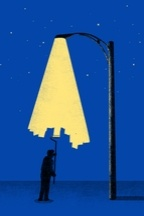 This design is great.  I love the image of light being painted on the sky.  It's from Threadless.com .