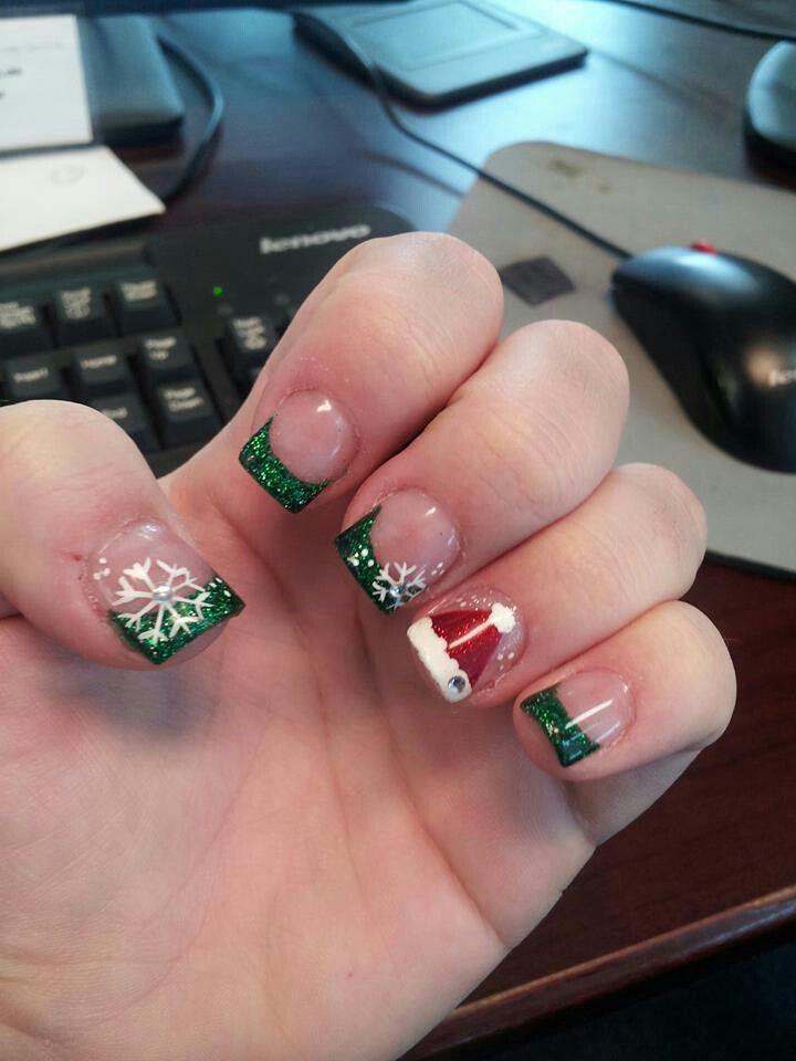 12/4/15 snowflakes and santa hat!