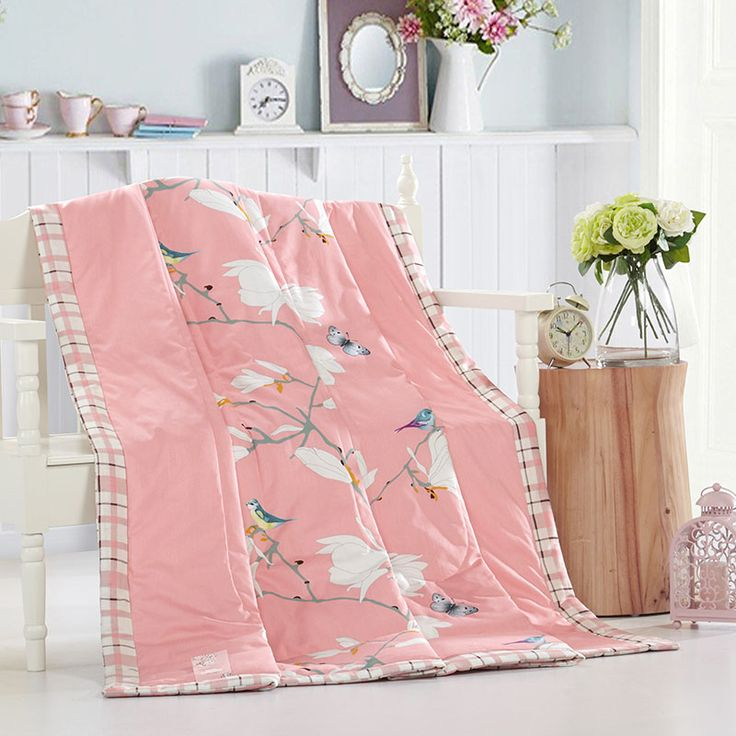 [Doremi] 100% Cotton Quilt/Blanket/Throw with comforter(100% Soft Polyester) Blanket Towel Quilt bedding set blanket on the bed