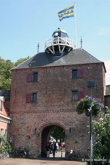Vischpoort ('Fish gate') with lighthouse on top - Harderwijk, Netherlands.