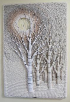 Tree Relief... by Gloria McRoberts (fabric, textile, fiber art)