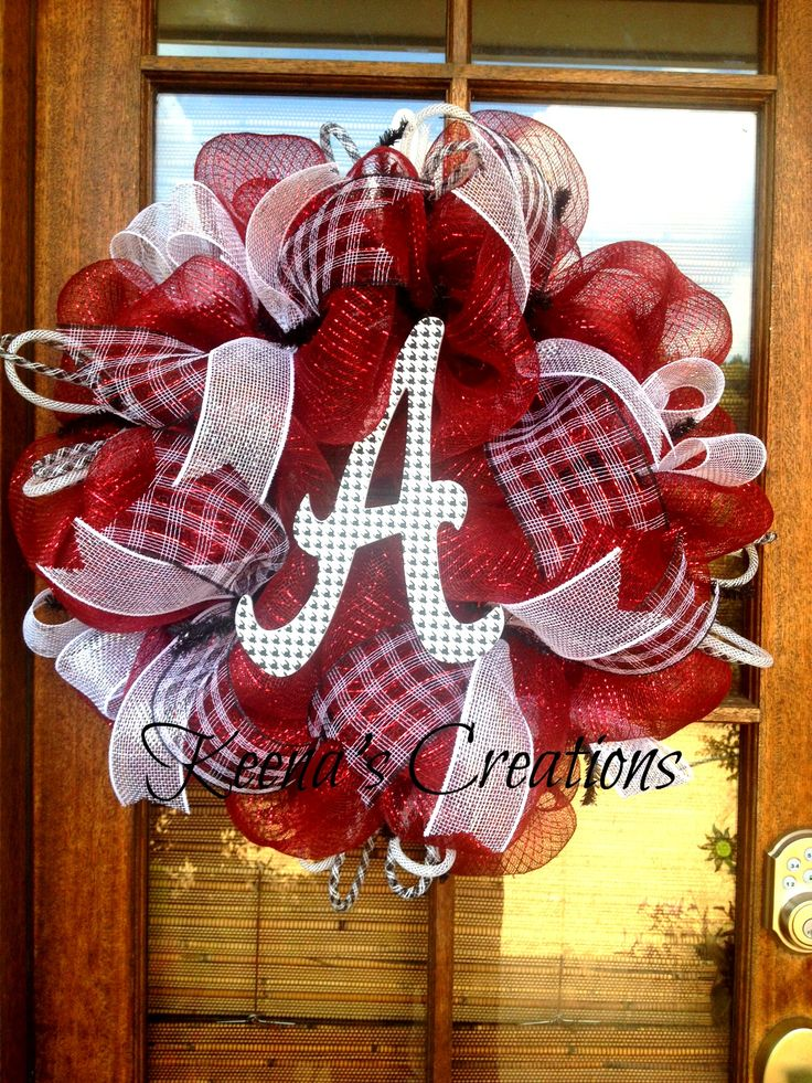 Roll Tide! Alabama wreath. $75