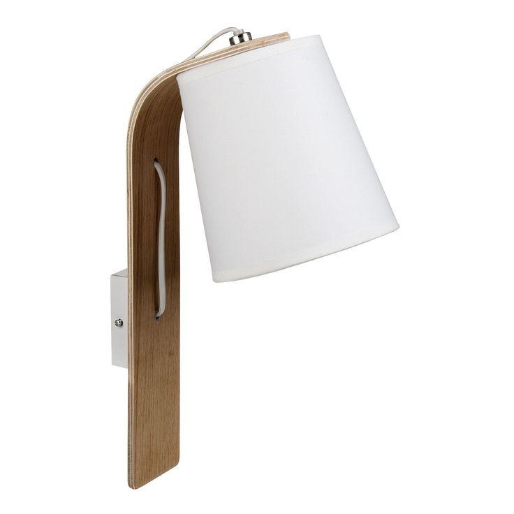 Applique murale BOIS/BLANC E14 Blanc - Ellica - Les appliques - Luminaires - Salon et salle à manger - Décoration d'intérieur - Alinéa
