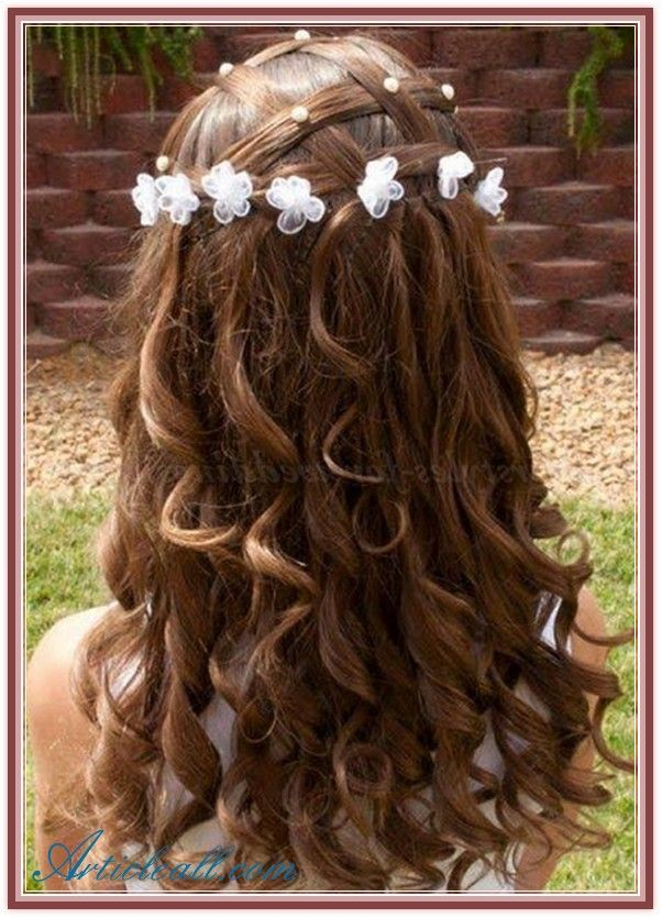 Enjoyable 1000 Images About Flower Girl39S Hairstyle On Pinterest Curly Short Hairstyles Gunalazisus