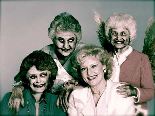 8 best ideas about zombified celebrities on pinterest for How old was betty white in golden girls