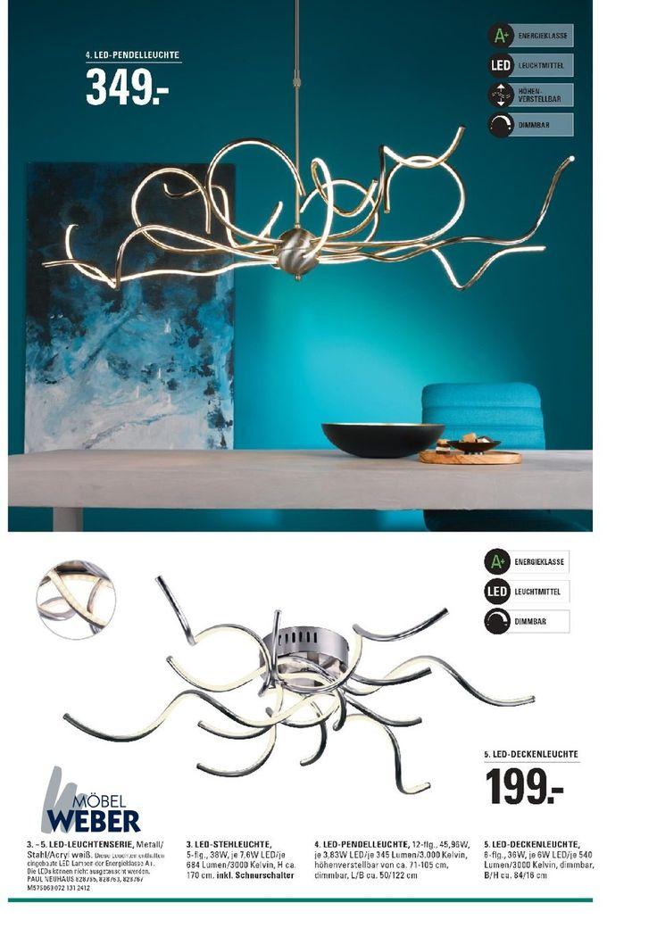 Futuristisch anmutende Eleganz für Ihren Essbereich: Die LED-Pendelleuchte Anabelle in Acryl Weiß des Herstellers Paul Neuhaus ist Lichtquelle und Blickfang zugleich: https://shop.webermoebel.de/online-shop/produktdetails-1043-1049-1135-id1067161/kaufen-Moebel-Weber-Herxheim/Moebel-A-Z-Lampen-und-Leuchten-Pendelleuchten-und-Kronleuchter/Pendelleuchte-Paul-neuhaus-aus-Metall-in-Weiss-Paul-Neuhaus-LED-Pendelleuchte-Anabelle-weisses-Acryl-Metall-und-Stahl-Laenge-ca-122-cm-guenstiger.html