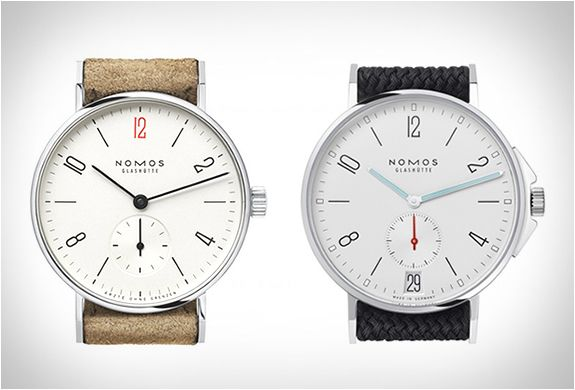 Elegant watches by a German luxury watch company called Nomos Glashütte.