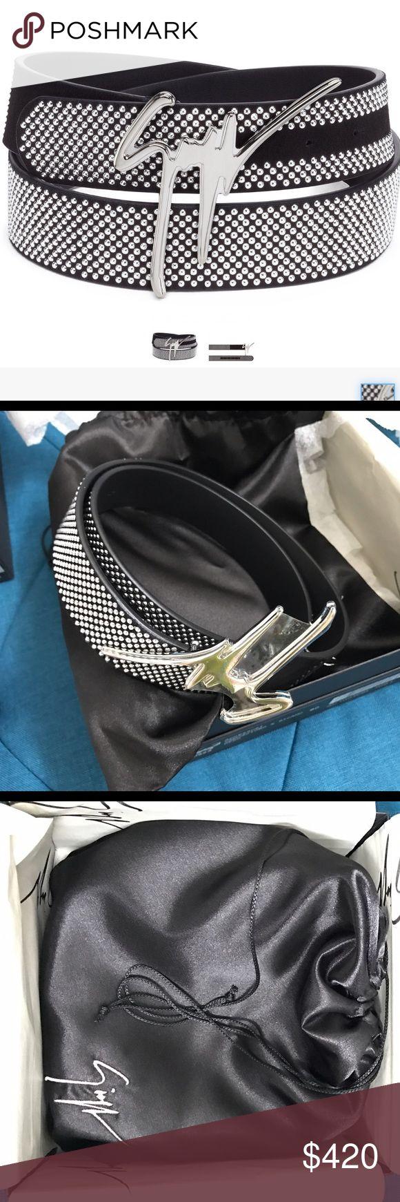 A brand new Giuseppe Zanotti Belt. This is a brand new studded Giuseppe Zanotti Men's belt. Giuseppe Zanotti Accessories Belts