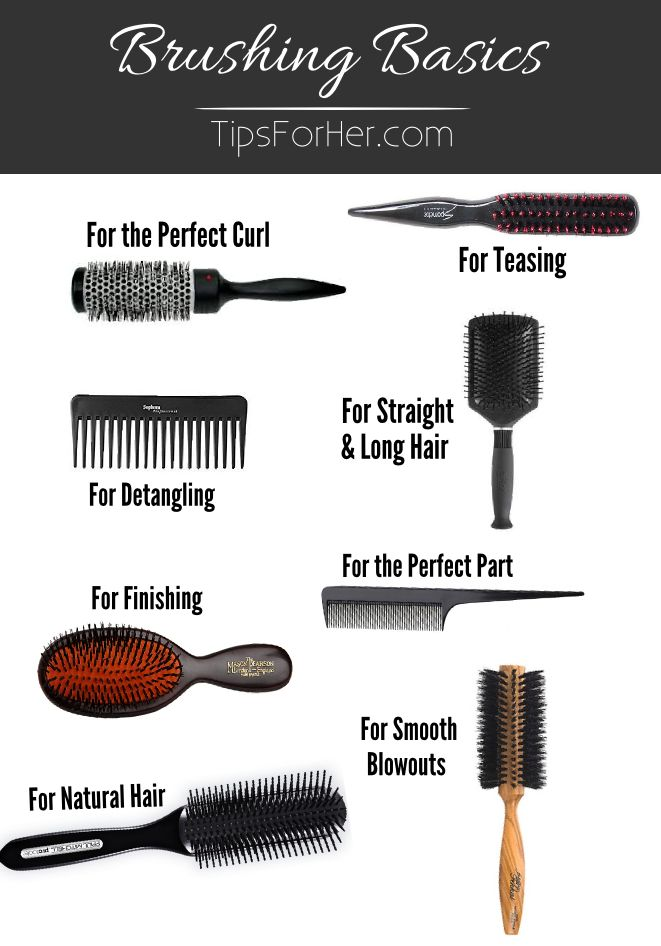 Brushing Basics: A Guide to Hair Brushes - 8 of our favorite hair brushes and what they are used best for.