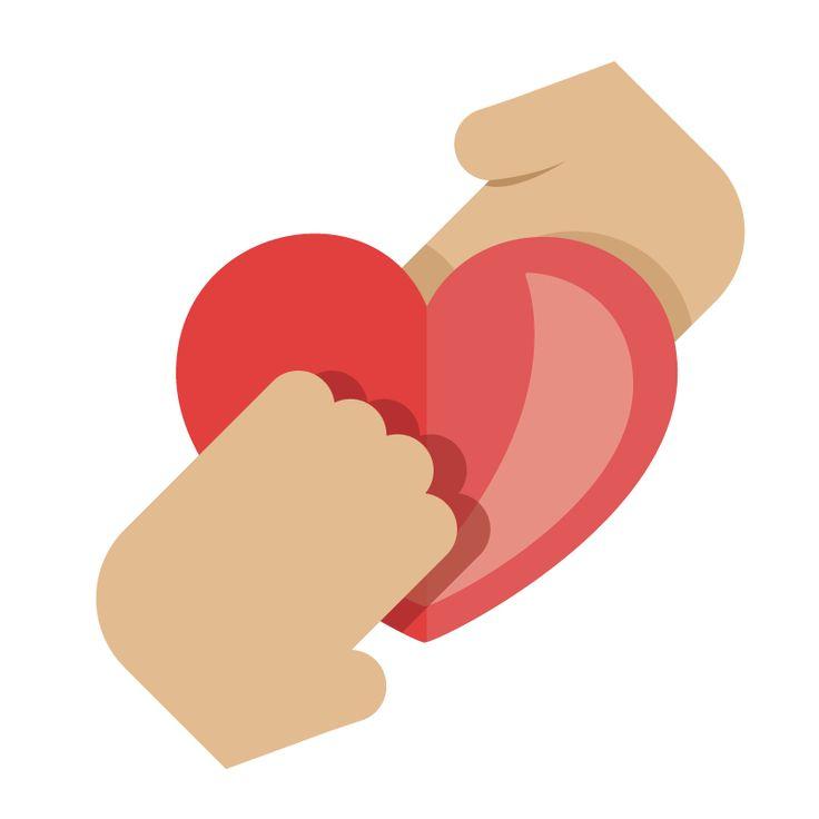 手とハート Hands and heart