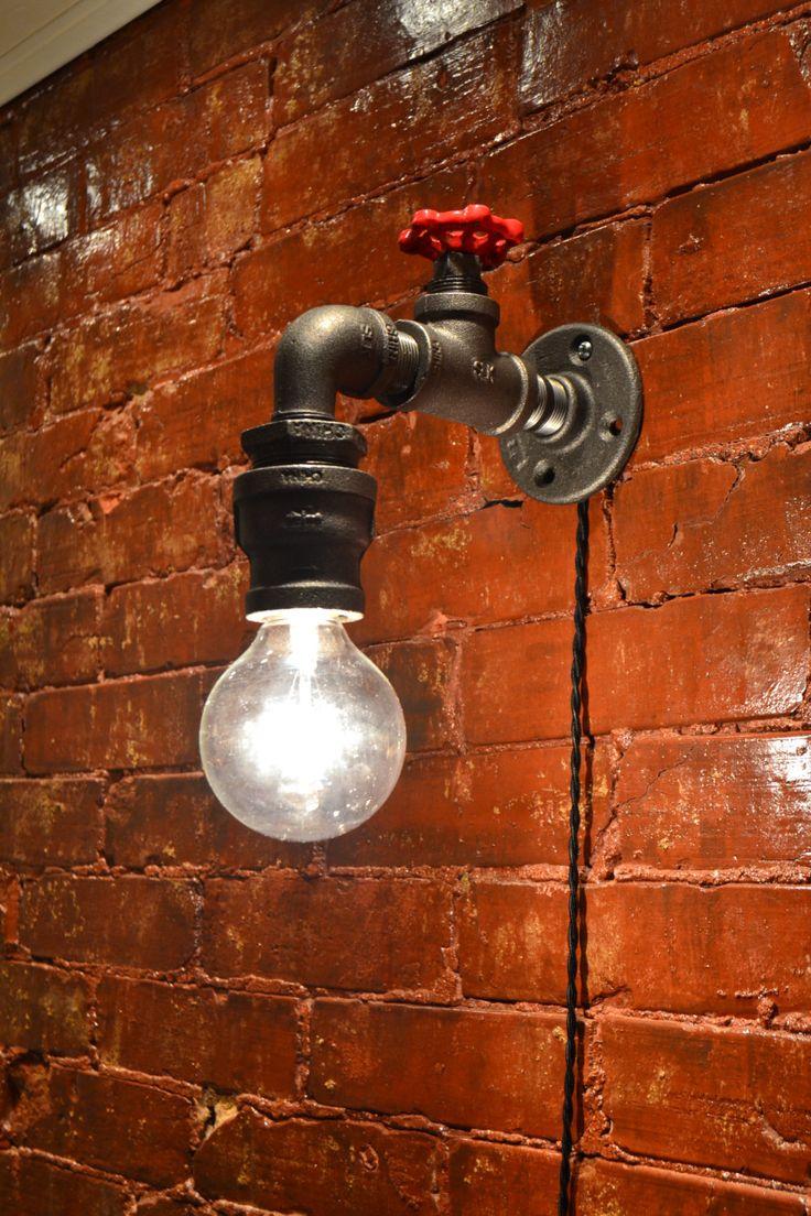 Industrial Lighting  Steampunk Faucet Sconce  von WestNinthVintage, $96,00