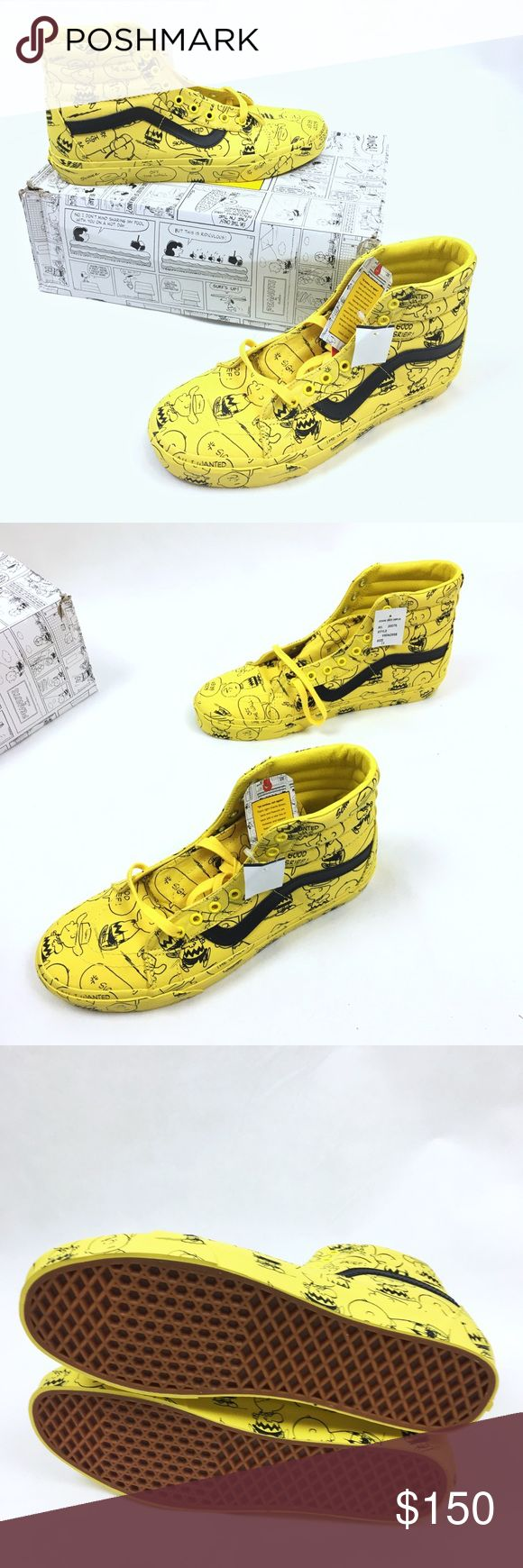 Vans Sk-8 Charlie Brown High Tops Maize Peanuts Brand new pair of unique high tops by VANs.  This is a great collaboration between two great brands.  Sizes available 7, 7.5 Vans Shoes Sneakers