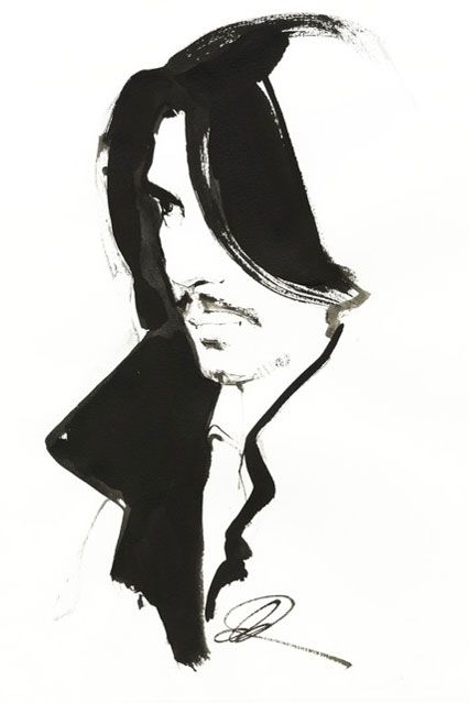 Portrait of Stephane Rolland by David Downton