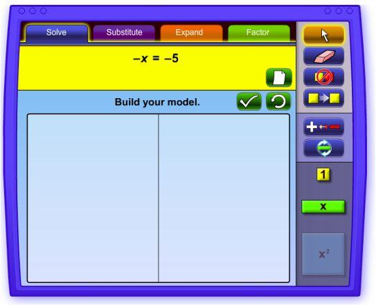 Model equations (Algebra Tiles site)