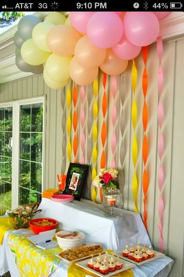 cute birthday display for outdoors or indoors!