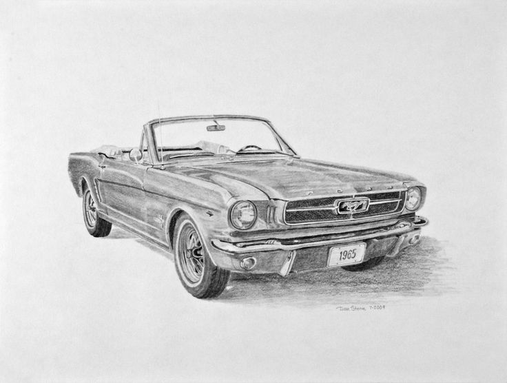 1965 Ford Mustang Sketch