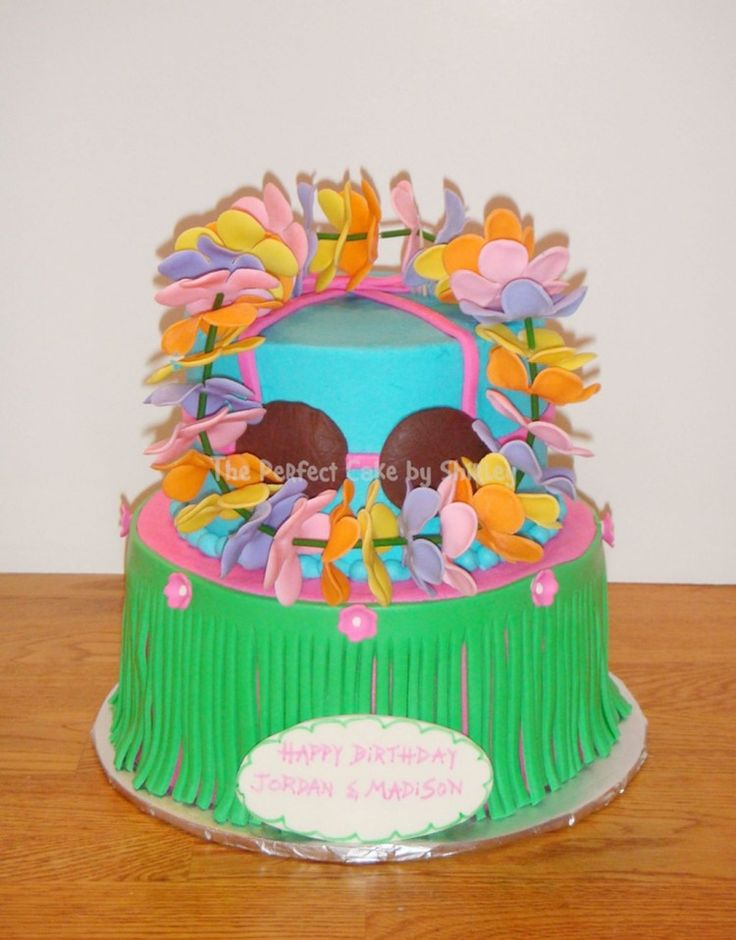 Lets Hula Birthday Cake