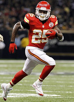 Former Longhorn Jamaal Charles is killing it with the Kansas City Chiefs! 233 rushing yards, including a 91-yard untouched sprint!