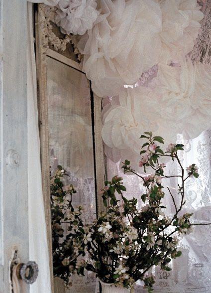 My Shabby Streamside Studio: My Big Tissue Paper Roses
